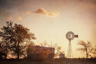 Texas Farm Dawn Poster