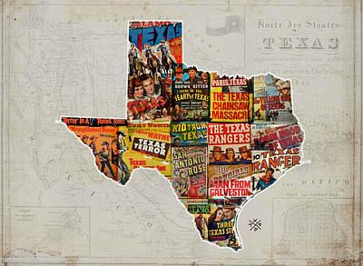 Texas Film History Poster
