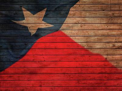 Texas Flag Barn Door Poster