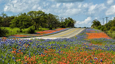 Texas Highways Poster by Stephen Stookey