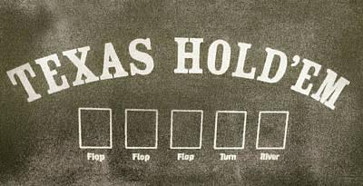 Texas Hold Em Poster by David Millenheft