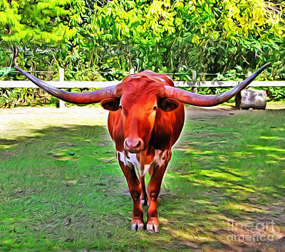 Texas Longhorn 2 Poster by Nishanth Gopinathan