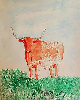 Texas Longhorn Poster by Fred Jinkins