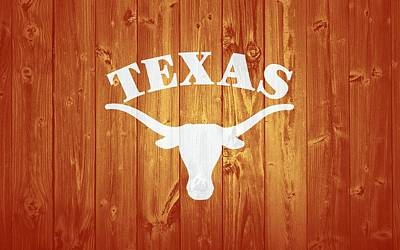 Texas Longhorns Barn Door Poster by Dan Sproul