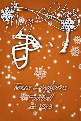Texas Longhorns Christmas Card Poster by Joe Hamilton