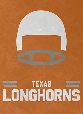 Texas Longhorns Vintage Football Art Poster by Joe Hamilton
