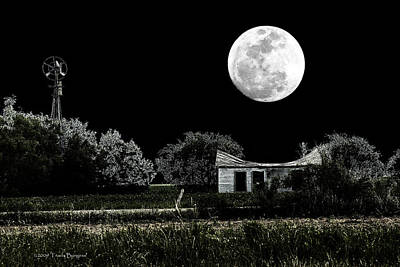 Poster featuring the photograph Texas Moon by Travis Burgess