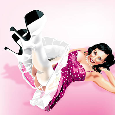 Texas Pin Up Girl Poster