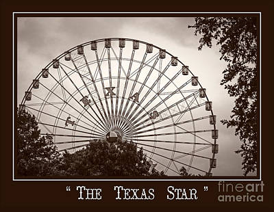 Texas Star In Sepia Poster
