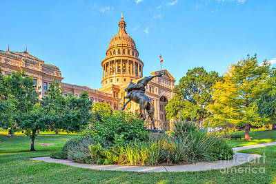 Texas State Capital Poster by Tod and Cynthia Grubbs