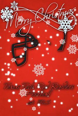 Texas Tech Red Raiders Christmas Card Poster