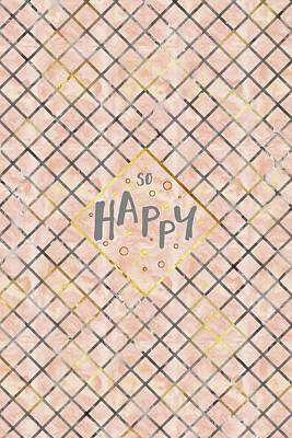 Text Art So Happy - Orange Poster