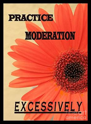 Practice Moderation, Excessively Poster