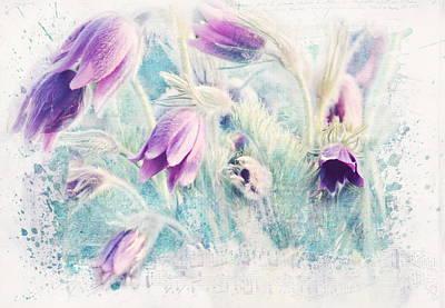 Texture Flower Poster