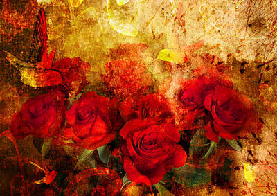 Texture Roses Poster by Svetlana Sewell