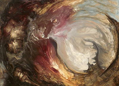 textured fluid acrylic original painting SACRED Poster by Holly Anderson