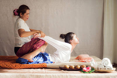 Thai Original Massage For Woman In Many Spa Poster