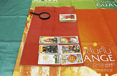 Poster featuring the photograph Thai Tarot Fortune Teller  by Dean Harte