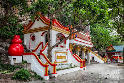 Tham Khao Yoi Temple Poster by Adrian Evans