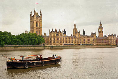 Poster featuring the photograph Thames by Keith Armstrong