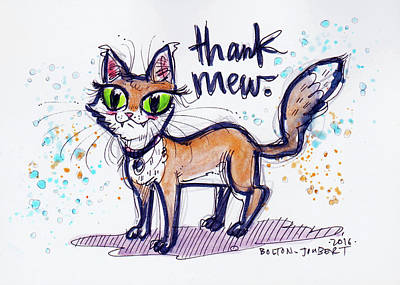 Thank Mew. Poster by Maria Bolton-Joubert