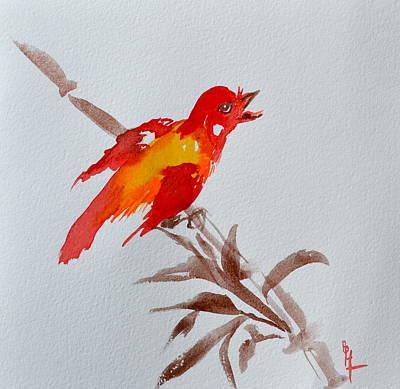 Thank You Bird Poster by Beverley Harper Tinsley