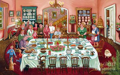 Thanksgiving Poster by Colette Raker