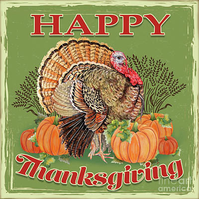 Poster featuring the painting Thanksgiving-b by Jean Plout