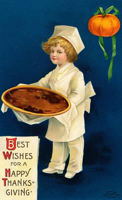 Thanksgiving Card Poster by Ellen Hattie Clapsaddle