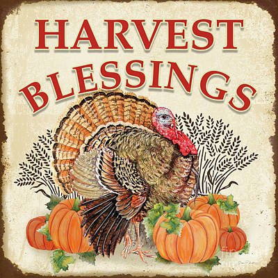 Poster featuring the painting Thanksgiving-e by Jean Plout