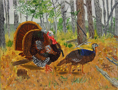 Thanksgiving Turkey Poster by Swabby Soileau