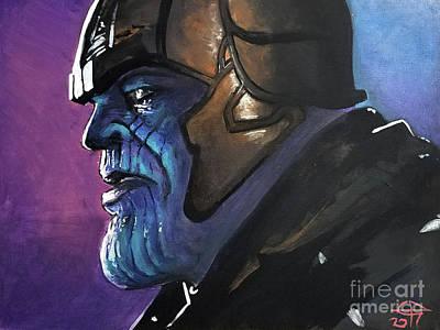 Thanos Poster by Tom Carlton