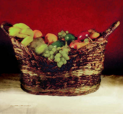 That Basket Of Fruits Painting Poster
