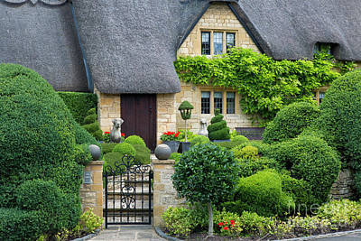 Poster featuring the photograph Thatch Roof Cottage Home by Brian Jannsen