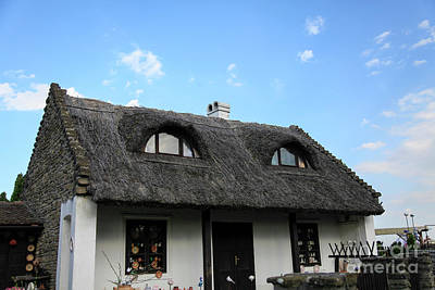 Thatch Roofed Farmhouse Poster