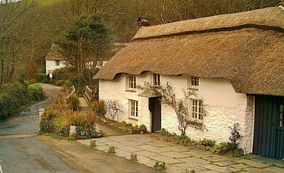 Thatched Cottage By Ford  Poster