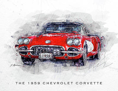 The 1959 Chevrolet Corvette Poster