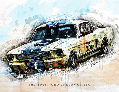 The 1965 Ford Shelby Gt 350 II Poster by Gary Bodnar