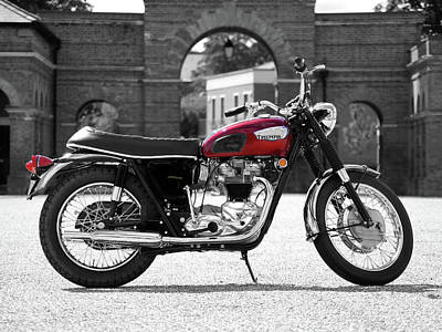 The 1968 T120 Bonnie Poster