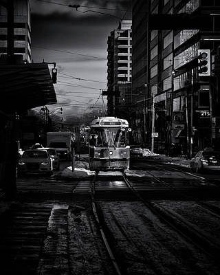 Poster featuring the photograph The 512 St.clair Streetcar Toronto Canada by The Learning Curve Photography