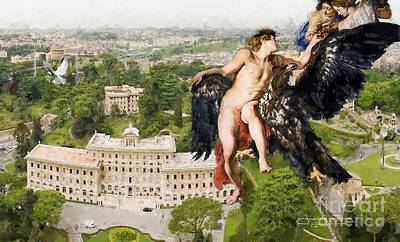 The Abduction Of Ganymede From St.peters Basilica Poster