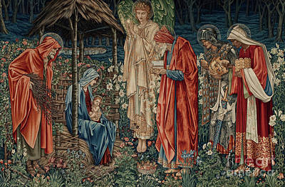 The Adoration Of Magi Poster by Sir Edward Coley Burne Jones