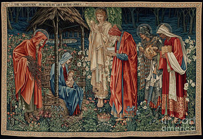 The Adoration Of The Magi Poster by Sir Edward Coley Burne Jones
