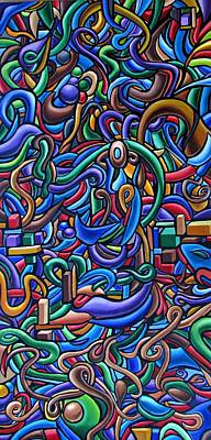 The After Party, Another Party - Chromatic Abstract Painting - Ai P. Nilson Poster