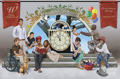 Poster featuring the digital art The Age Of Kindness by Dwayne Glapion
