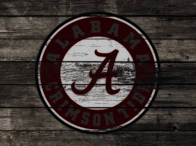The Alabama Crimson Tide 3a             Poster by Brian Reaves
