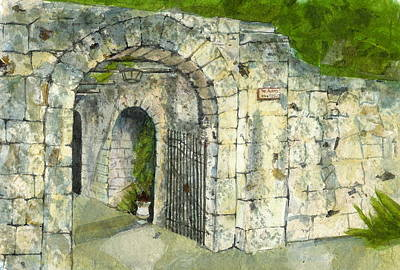 Poster featuring the mixed media The Alamo by Lynn Babineau