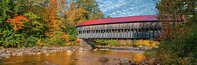 Poster featuring the photograph The Albany Bridge - Kancamagus Highway by Expressive Landscapes Fine Art Photography by Thom