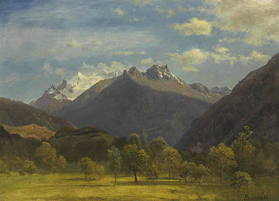 The Alps From Visp Poster