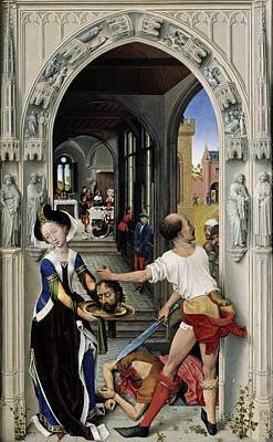 The Altar Of St. John, Right Panel Poster by Rogier van der Weyden